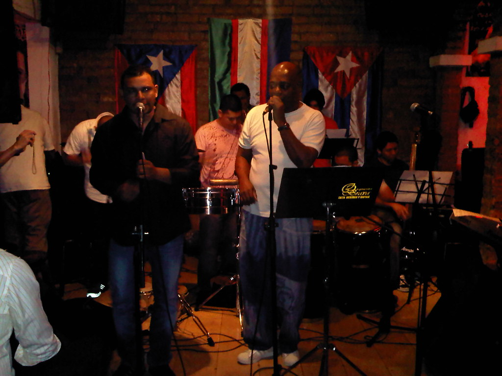A live salsa band in Zaperoco.