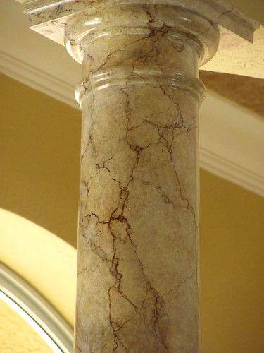 Columns painted like marble