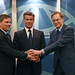 Tim Kelly, Pierce Brosnan and Robert Zoellick