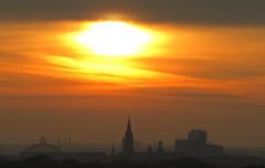 Sonnenaufgang ber Leipzig (micha81sch) Tags: sunset orange sun rot germany deutschland fantastic kirche himmel leipzig gelb sachsen sonne sonnenaufgang sunraise uniriese schn romantisch fantastisch wundervoll grosartig