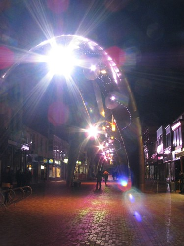 Blackpool town centre lights