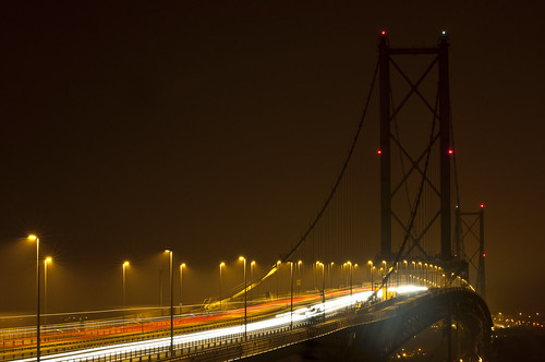Forth Road Bridge Light Trails