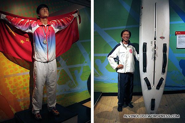 Chinese Olympic Gold Medalist hurdler, Liu Xiang (刘翔) and Hong Kong Olympic Gold Medalist windsurfer, Lee Lai Shen (李麗珊)