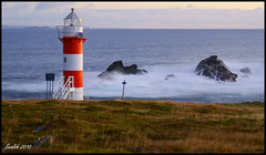 """Green Point Lighthouse located just beyond """"Port de Grave"""" (Scott C Walsh) Tags: lighthouse robert clouds sunrise newfoundland boats harbour sony stjohns a200 nightphotogrphy portdegrave greenpointlighthouse"""