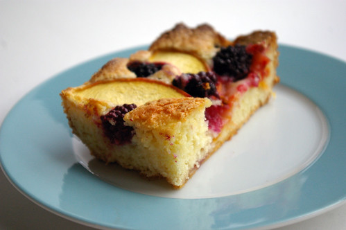 Fruit Cobbler Cake Slice