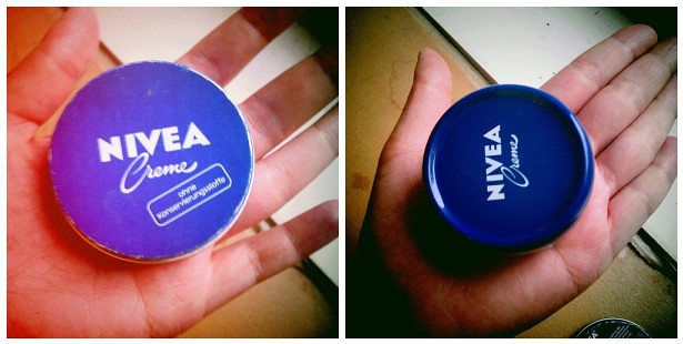 Nivea creme old and new