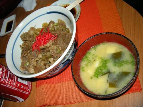 Gyudon + Miso Soup