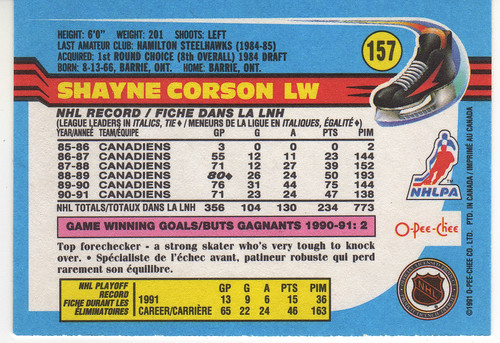 Shayne Corson back
