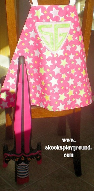 Pink Princess SuperHero Cape with Pink Princess Blow Up Sword