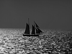 line on the horizon (Tadgh  Maoildearg) Tags: sea sky bw horizon line sail xxx tinfoil blackwhitephotos