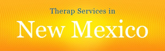 Graphic showing 'Therap Services in New Mexico'