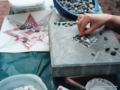Pebble Mosaic in Progress