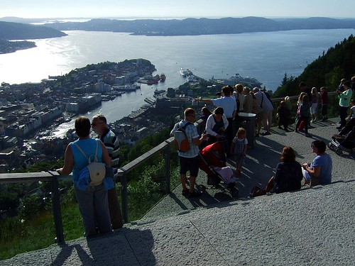 Bergen view atop the funicular