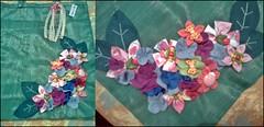 Sacola Ecológica - Floral (Fuxico de Chita) Tags: de flor artesanal fuxico feltro tecido aplicação sacola ecológica customização sacoladefeira aplicaçãodefeltro sacolaecológica