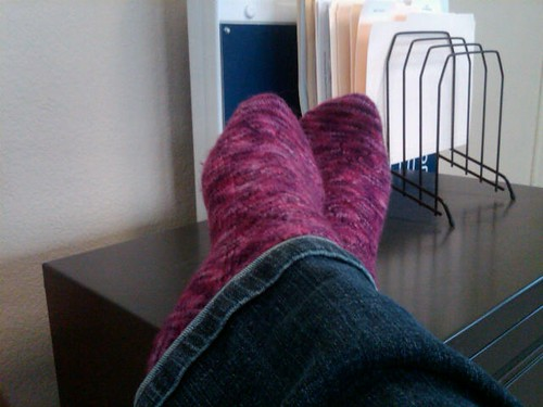 Hand Knit Socks and is it time to go home yet?