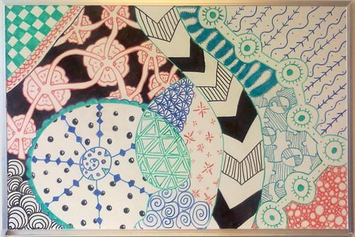 Zentangled white board 1