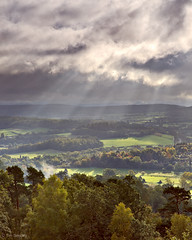 Clearing autumn storm, St. Martha's Hill, Surrey (TimSmalley) Tags: morning autumn trees light landscape hill surrey hills chilworth clearingstorm stmartha stmarthashill alburydowns