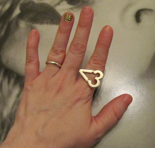 Wendy Brandes Emoticon Heart Ring