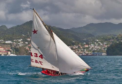 Grenada Sailing Festival Work Boat Regatta 2011