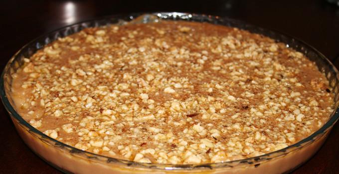 Söt efterrätt med valnötter (Bulamac)