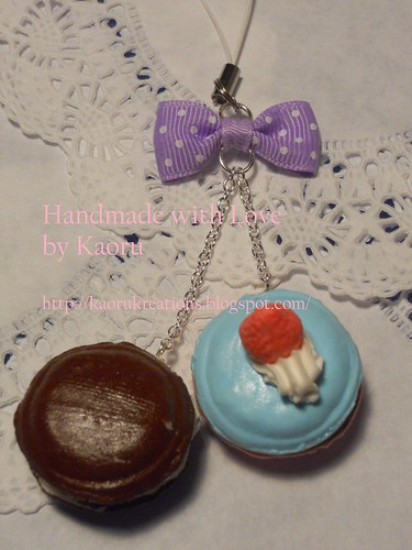 Double Macaroon cell Phone charms