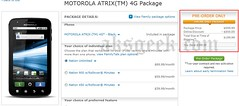 Motorola Atrix 4G pre-orders