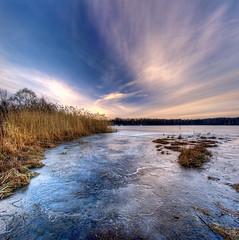 at sunset (Mariusz Petelicki) Tags: sunset lake hdr zachód zalew chechło vertorama mariuszpetelicki