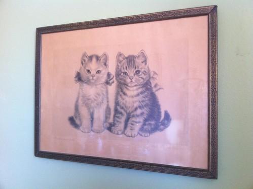 1920s Cat Print