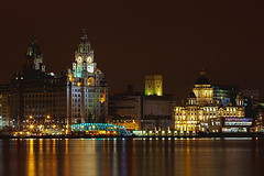 3 graces (Chris Pursell) Tags: night liverpool twilight dusk mersey merseyside liverbuilding 3graces