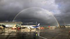 Rainbow! (agma06) Tags: wanderlust avgeek a320 airbus airplane rainbow arcoiris colombia agma06 world traveling avion aviation aviationphotography buddha bogota crew fun flight canon 7d lightroom
