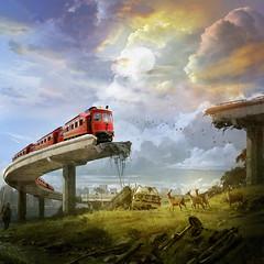 End of the line (jaci XIII) Tags: trem ponte desastre paisagem train bridge landscape disaster