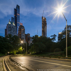 Center Drive (20170701-DSC06098) (Michael.Lee.Pics.NYC) Tags: newyork centralpark centerdrive centralparksouth one57 essexhouse 220cps timewarnercenter columbuscircle night twilight bluehour square architecture cityscape sony a7rm2 voigtlanderheliar15mmf45