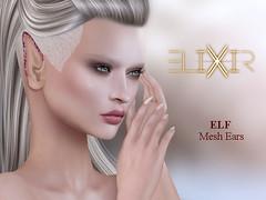 ..ELIXIR.. Elf Ears V1.01 [Basic Ears] (julieabd) Tags: ears blood tattoo facial mesh head slink applier adam catwa logo gaeg akeruka omega genesis lab lag