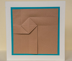 Origami Twist card - light brown (anuradhadeacon-varma) Tags: papercrafts turbine paperfolding windmill card greetingscard origami