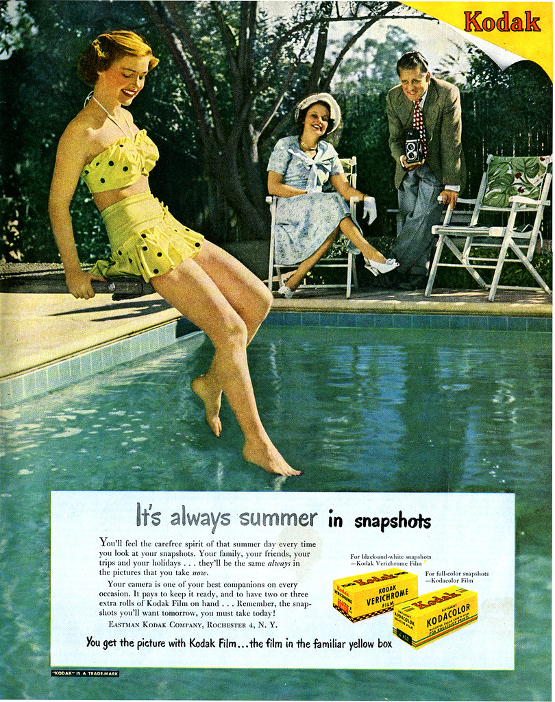 TATTERED AND LOST PHOTOGRAPHS: Vintage KODAK AD, 1949