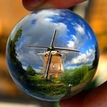 A Dutch windmill, Amsterdam – The Netherlands. Crystal ball