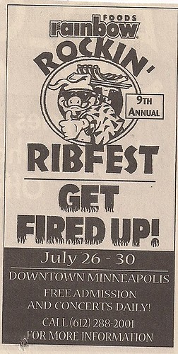 July 2000 Ribfest - Minneapolis, MN (Ad)