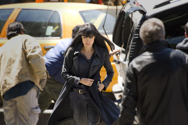 Angelina Jolie provides plenty of excuses for chase scenes in 'Salt'.