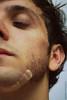 Taglio di barba (Sangria Fotografia - l'antiFra) Tags: portrait face self beard eyes cut plaster occhi taglio shape ritratto viso barba cerotto visage autoscatto volto