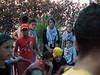 Enfants palestiniens avant leur entree en scene, Beit Ummar, 24/7/10
