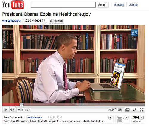 Obama Surfs the Web During PSA