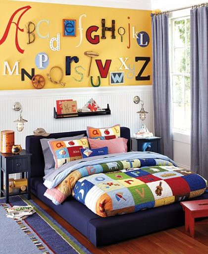 Pottery Barn Alphabet Wall