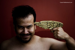 Da 358 v2 25/07/2010. (Cesar1t0) Tags: portrait people selfportrait male art angel naked nude photography photo rojo foto arte retrato autoretrato 365 fotografia hombre sacro desnudo ateo