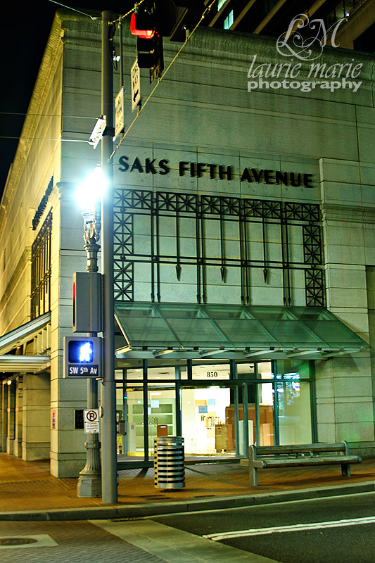 07-24-10 Portland Night Walk 12 Saks Fifth Avenue