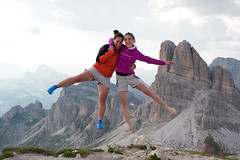 Flying Italians (OneEighteen) Tags: italy mountains trekking hiking levitation dolomites rifugio levity nuvolau altavia1 updatecollection