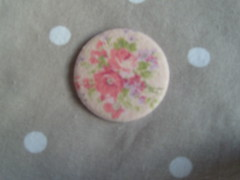 Pink Rose on pink Linen (Lilies and Daisies) Tags: magnets badges compactmirrors