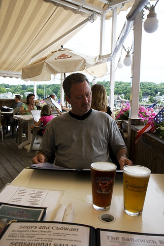 Bill, beer, and menu at McSeagulls.