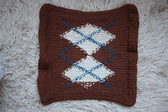 Large-Double Argyle Panel - Back