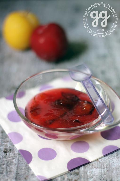 marmellata di prugne miste e rosmarino