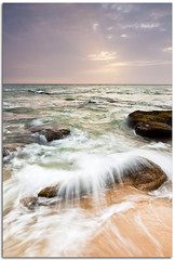 Explosin (Antonio Carrillo (Ancalop)) Tags: light sunset sea vacation sky seascape color art beach nature canon geotagged coast mar spain rocks europe trafalgar andalucia tokina explore filter cadiz cokin nd8 gnd8 ancalop